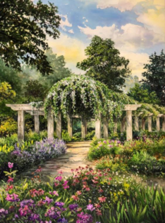 William Mangum Print - Arboretum