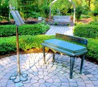 music stand bench